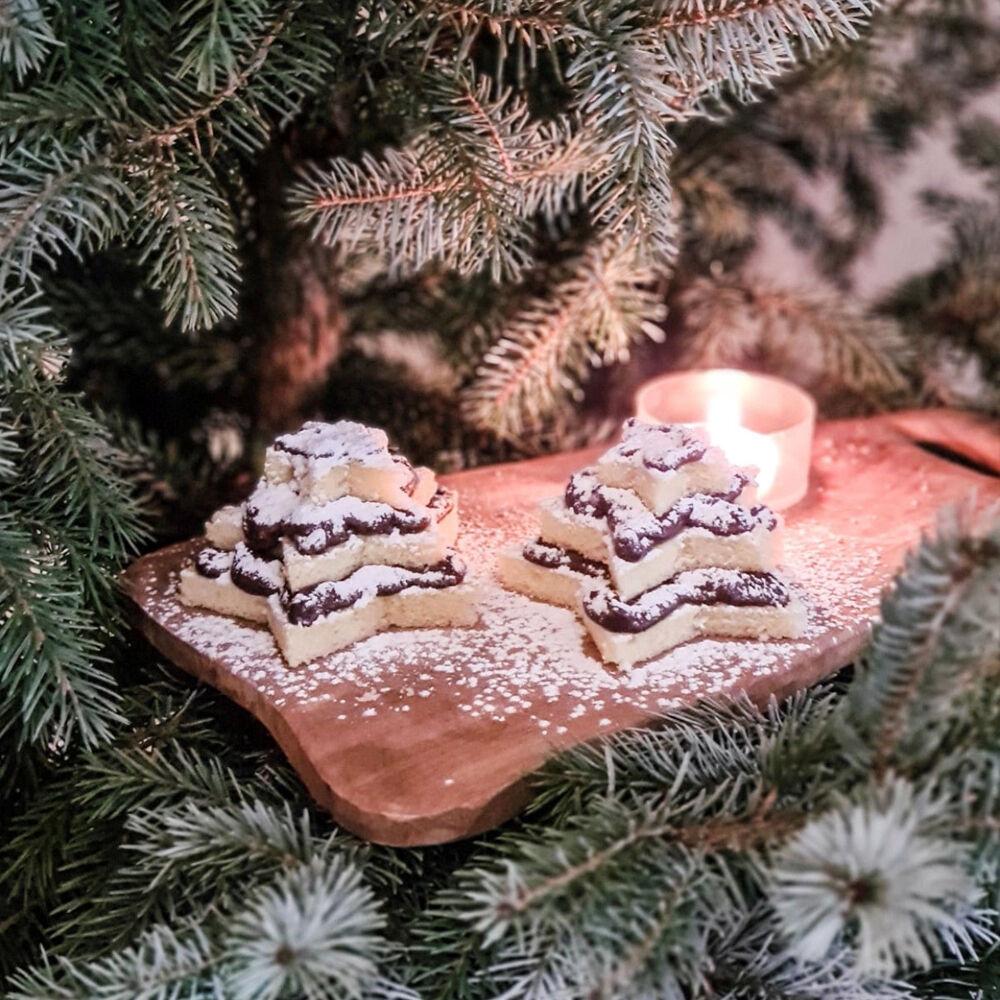 Gevulde cake kerstboom