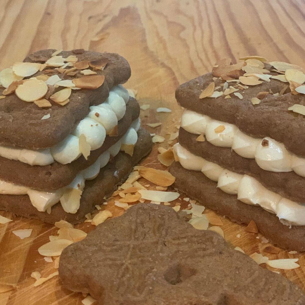 Speculaas koekjes met creme