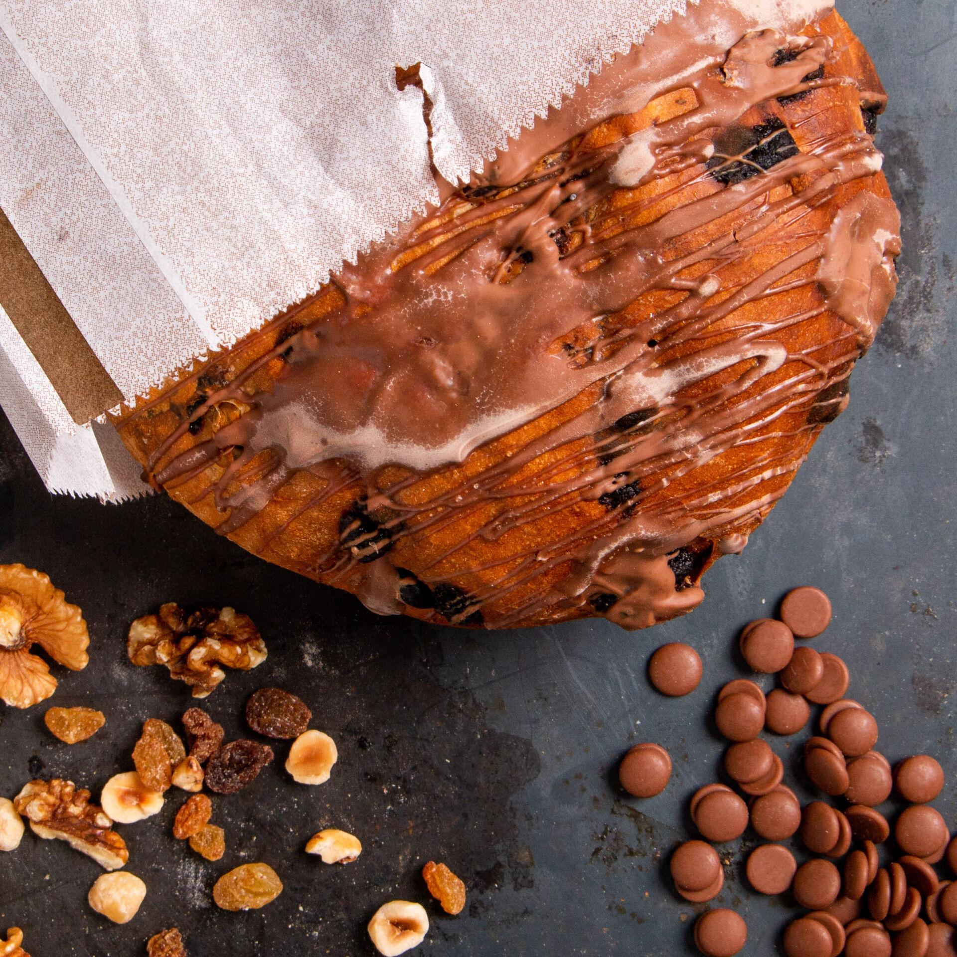 Brood fijngebak noten en choc